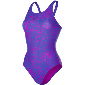 speedo Boom Allover Muscleback Swimsuit Women purple